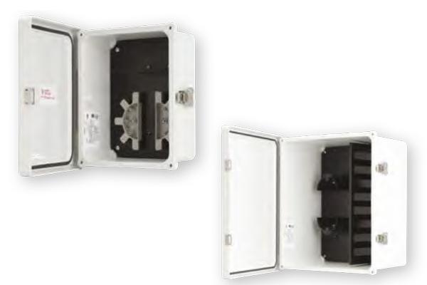 Fibra óptica, gabinete NEMA 4X, distribuidor de fibra óptica para exterior, 24 a 144 fibras / optical fiber, outdoor enclosure, 24-144 fiber